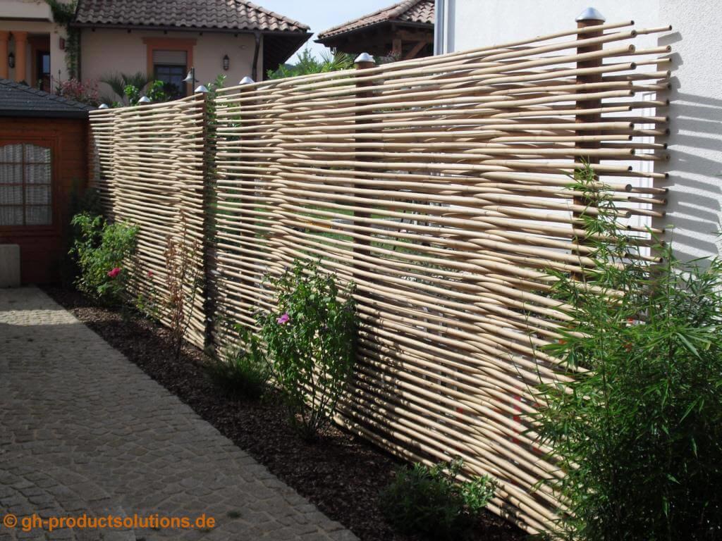 Rankgitter Freistehend Sichtschutz Rankhilfe Aus Bambus