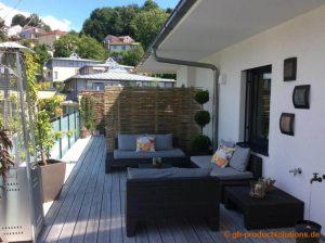 garten sichtschutz bambus Balkon