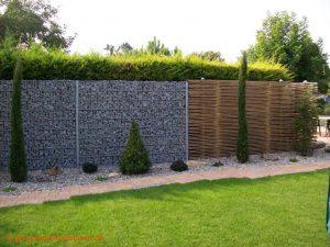 Sichtschutz Ideen - Garten Sichtschutz Bambus - Gabionen