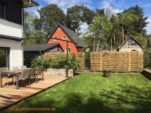 Sichtschutz Ideen - Garten Sichtschutz Bambus - Terrasse